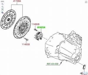 2007 Hyundai Sonata Slave Cylinder Location