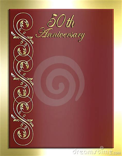 50th Anniversary Card Or Invitation Royalty Free Stock