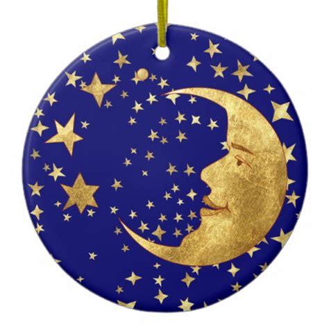 moon and stars christmas ornaments zazzle