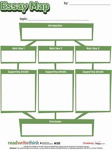 prewriting outline template - the essay map is an interactive graphic organizer that
