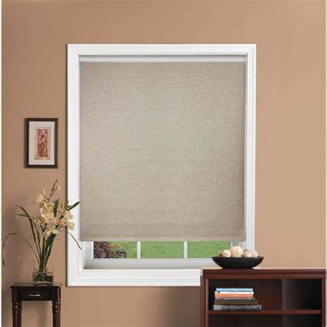 home depot l shades bali cut to size oatmeal light filtering fabric roller