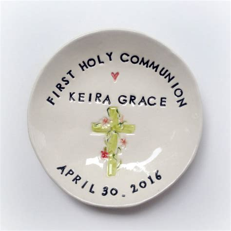gifts for communion girl personalized communion gift ceramic ring dish keepsake