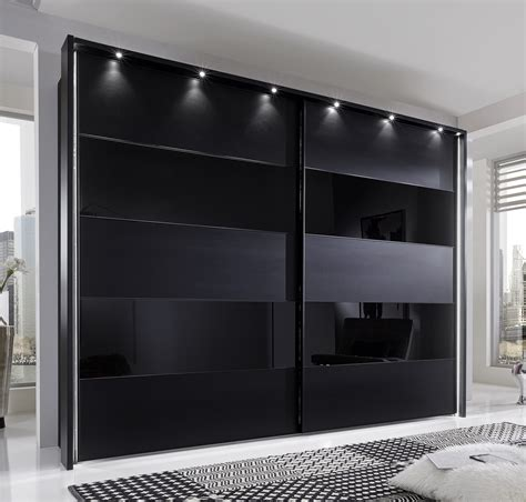 Black Wardrobe by Phoebe By Stylform Black Matt Glass Wardrobe Head2bed Uk