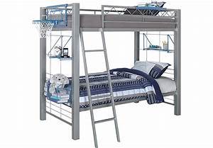 Build-a-Bunk Gray 3 Pc Twin Twin Bunk Bed - Bunk Beds Metal