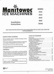 Manitowoc B0200 B1000 Installation Manual