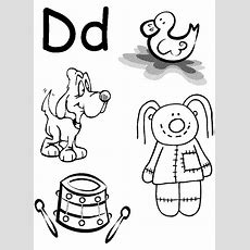 Letter D Coloring Pages Getcoloringpagescom