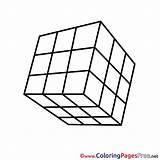 Cube Printable Rubik Colouring Coloring Sheet Rubiks Title sketch template