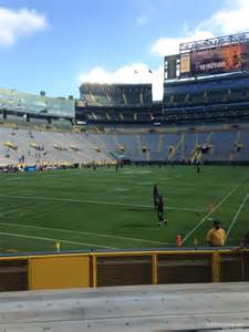 View From Section 106 Lambeau Field