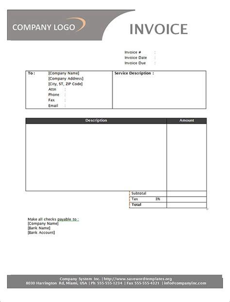 service invoice   documents   word