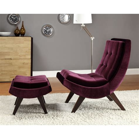 modern accent chair and ottoman contemporary purple accent chair without arms and curved