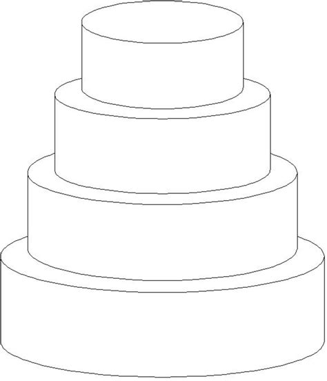 cake template sketch of stacked cake coloring pages