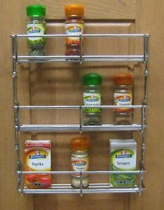 Wall Mounted Chrome Spice Rack by 3 Tier H Duty Spice Rack Chrome Kitchen Cabinet Door