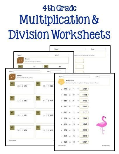 4th grade math worksheet multiplication and division word problems 4th grade multiplication and division worksheets