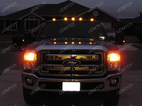 lights on top of truck aerodynamic low profile smoked lens led cab roof light fot