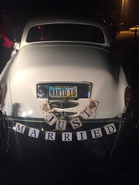 multibrown  married banner  married car sign