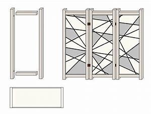 Paravent Bauen Anleitung : bauanleitung f r einen paravent mit linienmuster ~ Lizthompson.info Haus und Dekorationen
