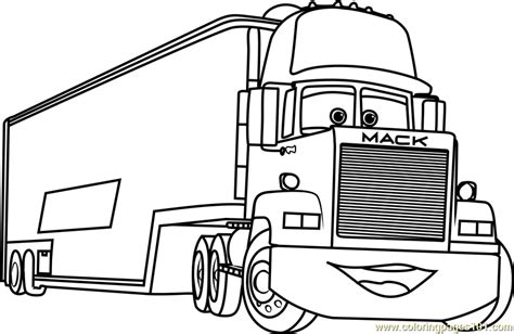 mack  cars  coloring page  cars  coloring pages coloringpagescom