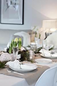 Table De Noel Blanche : d co table de no l avec vaisselle blanche et argent ~ Carolinahurricanesstore.com Idées de Décoration