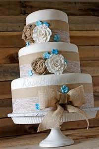 teal wedding cakes burlap lace rustic wedding cake bakes