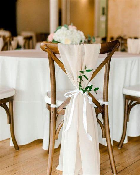 Beige Chiffon Chair Sash Wwhite Ribbon Tie In 2019