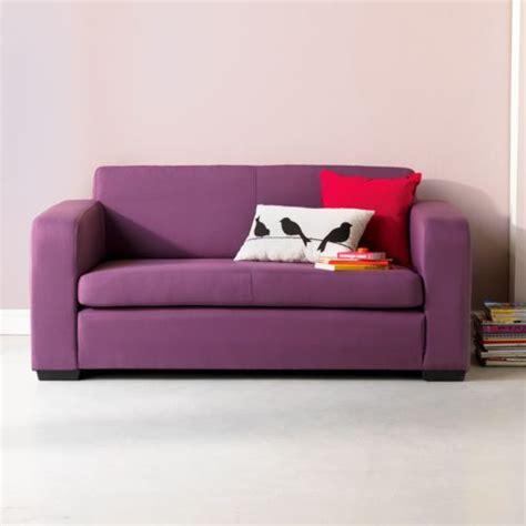 alinea canapes alinéa studio mousse canapé lit 2 places prune