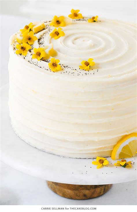 lemon poppy seed cake  scratch