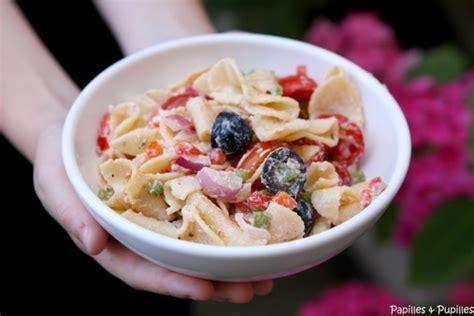 recette de salade de p 226 tes facile aux tomates poivrons et