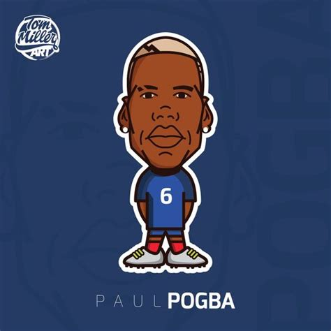 paul pogba paul pogba football soccer cartoon comic