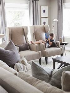 Innovative wingback chairs in Family Room Transitional ...