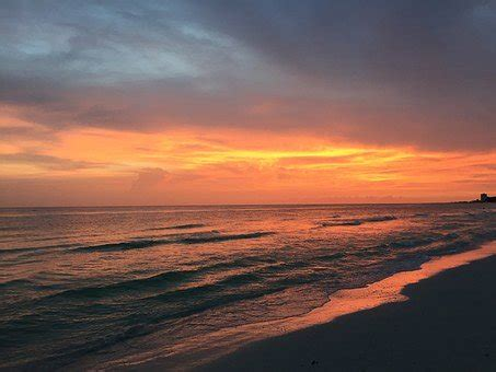 photo beach water sunset florida coast siesta key