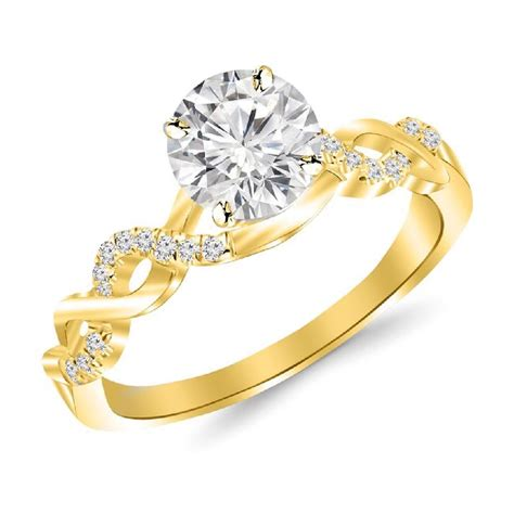 2 carat classic prong set engagement ring with a 1