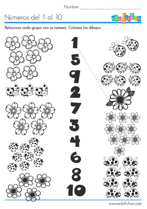 Los Números Del 1 Al 10 Relacionar Y Aprender A Contar