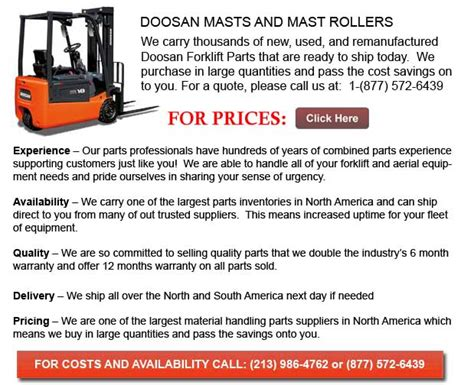Doosan Forklift Masts
