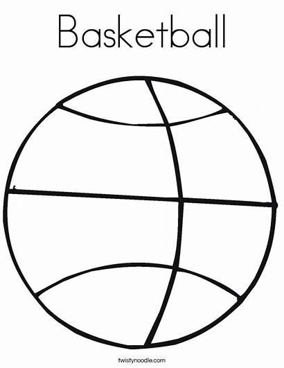Coloring Basketball Pages Printable Template Sports Football