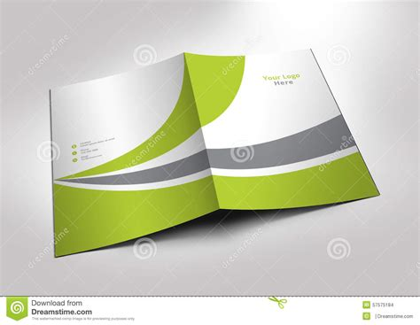 folder mockup stock illustration