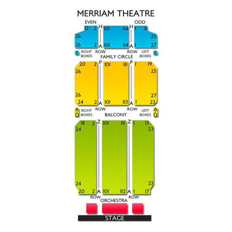 bureau front national merriam theatre seating chart seats