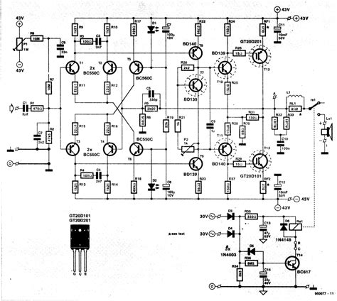 The Many Ideas Watt Amplifier Circuit Eleccircuit