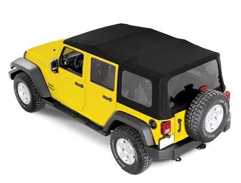 jeep wrangler unlimited soft top mopar 82213652 complete style sunrider twill soft