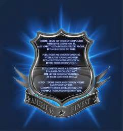 Thin Blue Line Police Officers Prayer