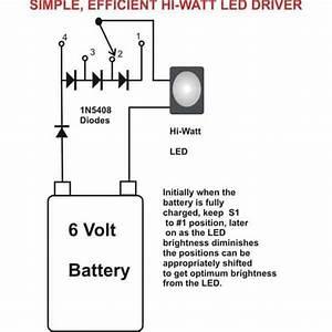 Easy 1 Watt Led Driver Circuit