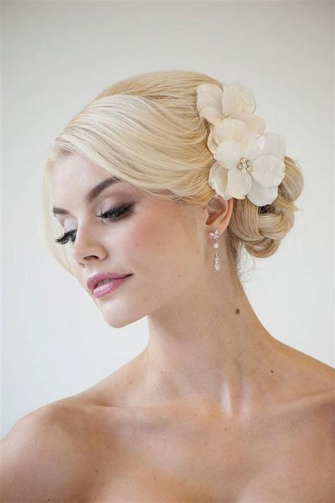 bridal flower hair clips wedding hair accessory