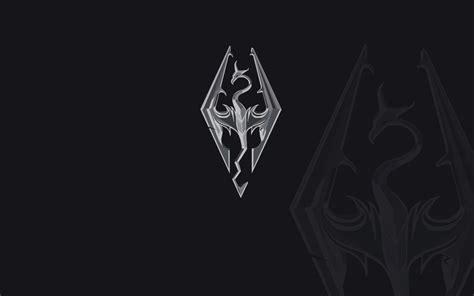 skyrim logo wallpaper