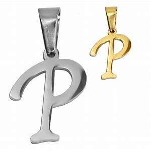 stainless steel pendant silvern golden gift letters With stainless steel alphabet letters