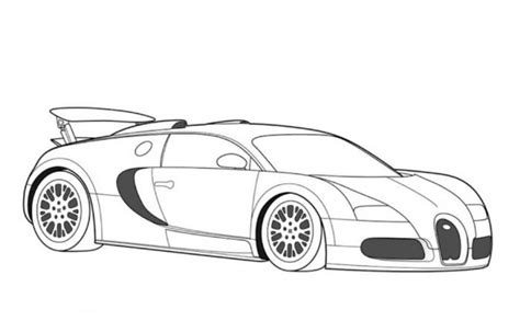 Bugatti Veyron Super Car Coloring Page