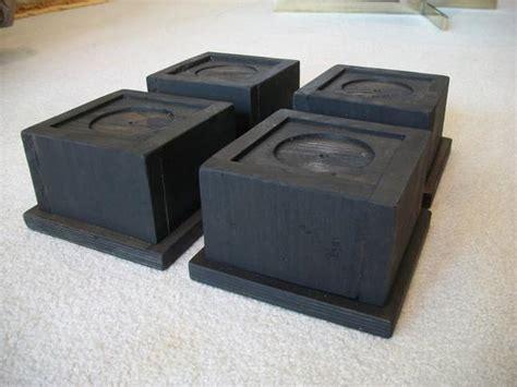 Set Of 4 Large Oversize Bed Risers Furniture Blocks Leg