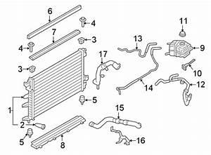 Lincoln Continental Engine Coolant Reservoir Hose  2 7