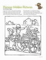 Lds Hidden Pioneer Coloring Activities Primary Mormon Friend Pages Activity Pioneers Crafts Magazine West Wild Games July Google Friends Trek sketch template
