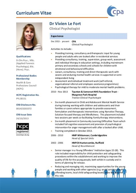 cpa clinical psychologist education uk