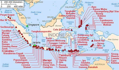 indonesia tsunami ring  fire map    deadly