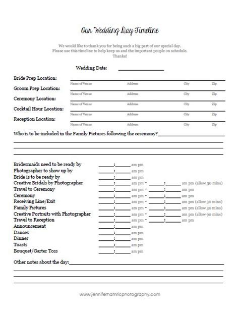 Wedding Day Timeline Template Word by Wedding Tips Planning A Timeline Of Your Day